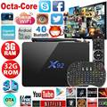 X92 Smart TV Caja 3 GB 32 GB Android 6.0 Amlogic S912 Set Top Box OCTA Core CPU Kodi 16.1 a Plena Carga 2.4G 5.8G Wifi 4 K H.265