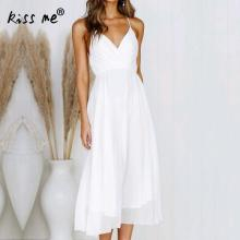 Chiffon White Solid Beach Dress Women Maxi Summer Holiday Sun Dresses Yellow V Neck Sleeveless
