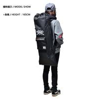 Black Color Mackar Skateboard Backpack Long Board Bag for Double Rocker Electric Skateboard Big Fish Plate Bicyboard Bag