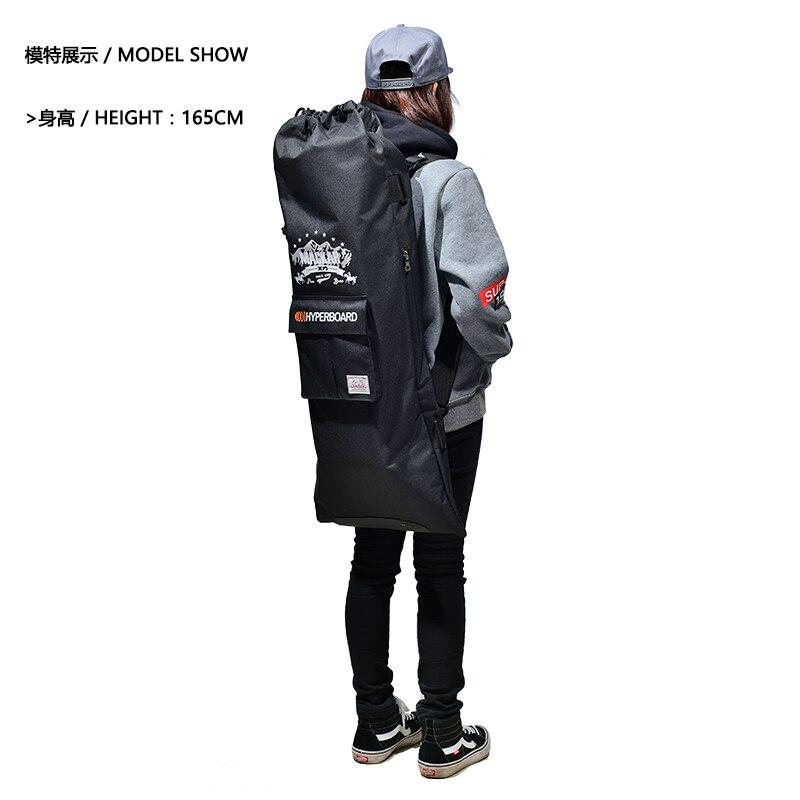 Sac à dos de planche à roulettes Mackar de couleur noire sac à dos Long pour planche à roulettes électrique à Double bascule