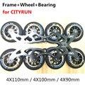 Роликовые коньки с колесом и подшипником для CITYRUN для MPC для Powerslide Track Rac 4X110mm 4X100mm 4X90mm 110mm Frame