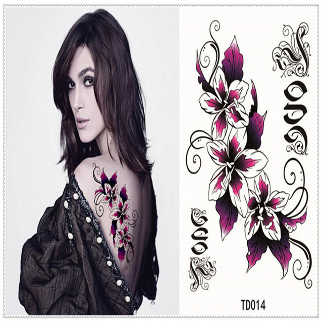Hot Design Flash Tattoo Flowers Style Temporary Tattoo Sticker Sex Products Removable Waterproof Tattoo Body Stickers