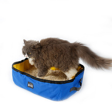 Pet Cat Travel Foldable Portable Outdoor Litter Waterproof Collapsible Oxford Box Kitten Puppy Toilet Training Bedpan