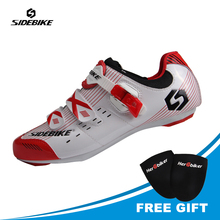 SIDEBIKE Professional Mens Road Cycling Shoes PU & Mesh Breathable Sneakers Bike Cycle Sapatilha Ciclismo