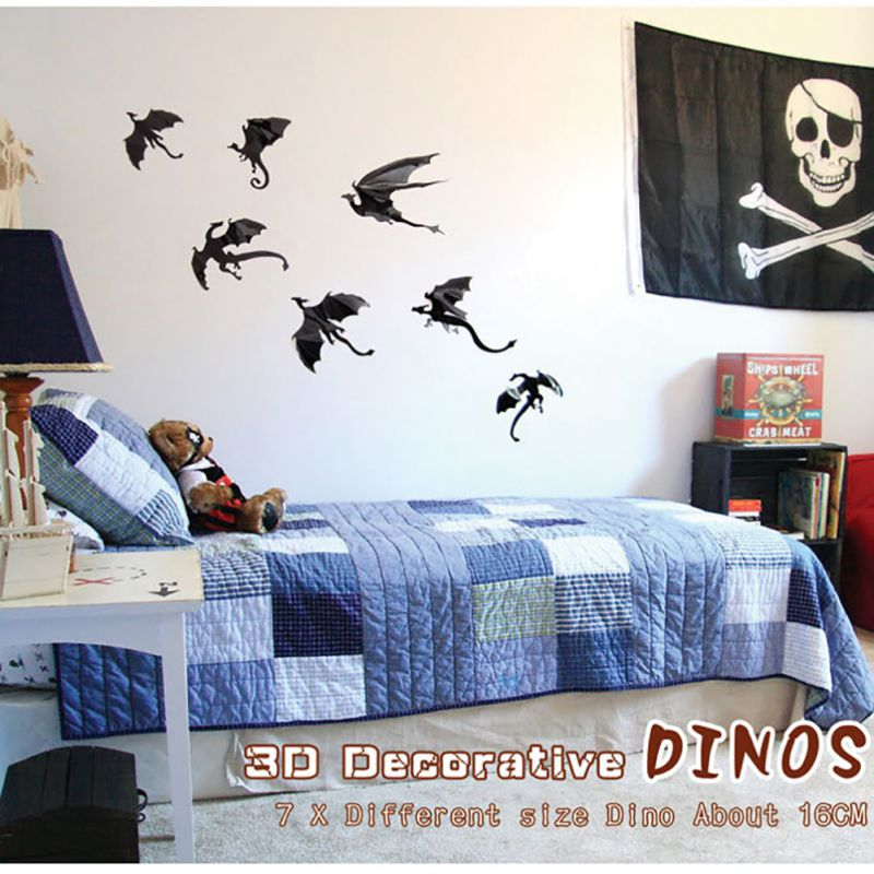 3d dragon wall art fantasy dragon silhouettes halloween decor dinosaurs boys rooms fun life game of