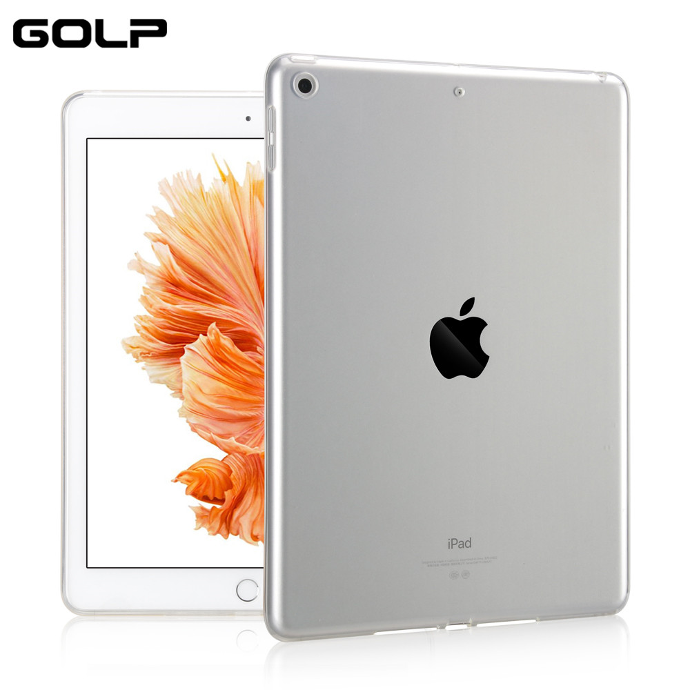 GOLP Back Cover Case For new iPad 9.7 inch Soft TPU Skin Tablet Protective Shell Skin Covers Cases For Apple new iPad 9.7 2017 candy color soft jelly silicone rubber tpu case for ipad pro 9 7 tpu case skin shell protective back cover for ipad pro 9 7 inch