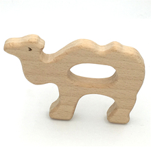 Baby Teething Toy Wooden camel Teething Toys New Born Gift wooden Rattle Natural font b Organic