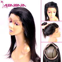 Alibarbara 360 Lace Frontal Closure 7A Brazilian Straight Lace Frontals With Baby Hair Natural Hairline Virgin Hair