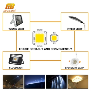Image 3 - 10W 20W 30W 50W 100W LED Beads Chip High Brightness 22 24V 30 32V Cold White Warm White DIY for Floodlight Spotlight With Driver