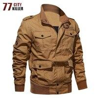77City Killer Military Jacket Men New Army Armband Bomber Jackets Pilot Cargo Jackets and Coats Outwear Clothing Plus Size M 6XL