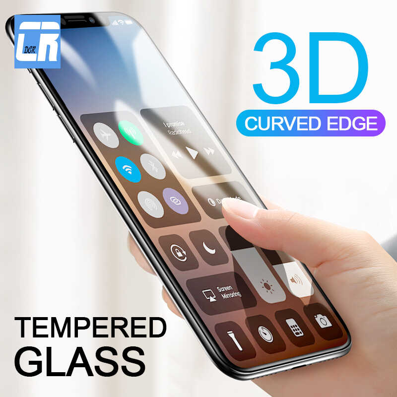 3D Curved Tempered Glass for iPhone X 10 XR XS Max Full Cover Screen Protector for iPhone 6 6S 7 8 Plus Carbon Fiber Soft Film