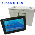 Factory sale HD TV 7 Inch Digital TV And Analog Television Receiver And TF Card And USB Audio And Video Playback Portable DVB-T2