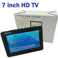 Venda de fábrica HD TV 7 Polegada TV Digital E Analógico de Televisão receptor E um Cartão de TF E USB Reprodução De Áudio E Vídeo Portátil DVB-T2