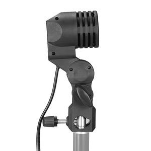 Image 3 - Single Head Bulb Holder E27 Socket Flash Umbrella Bracket Photo Lighting Bulb Holder For Photography Studio Accessories