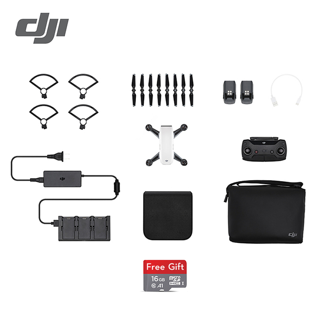 DJI Spark fly more combo drone 1080P HD Camera Drones ( Gift: 16GB MicroSD ) five colors original in stock