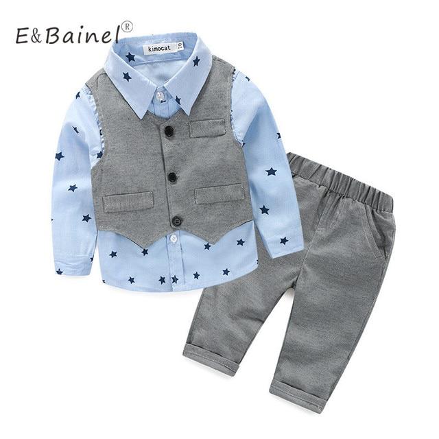 8e1cf6138bf54 Automne bébé vêtements pour bébé garçon vêtements ensembles coton étoiles  imprime à manches longues 3 pièces