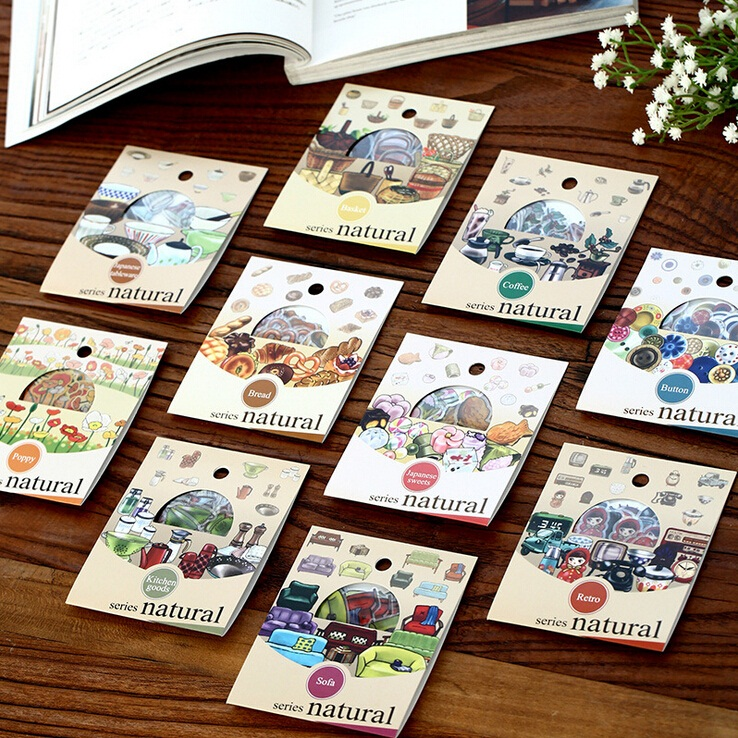 30pcs/lot Vintage Natural Life series multifunctional PET sticker pack  DIY deco sticker  label office school supplies   retail