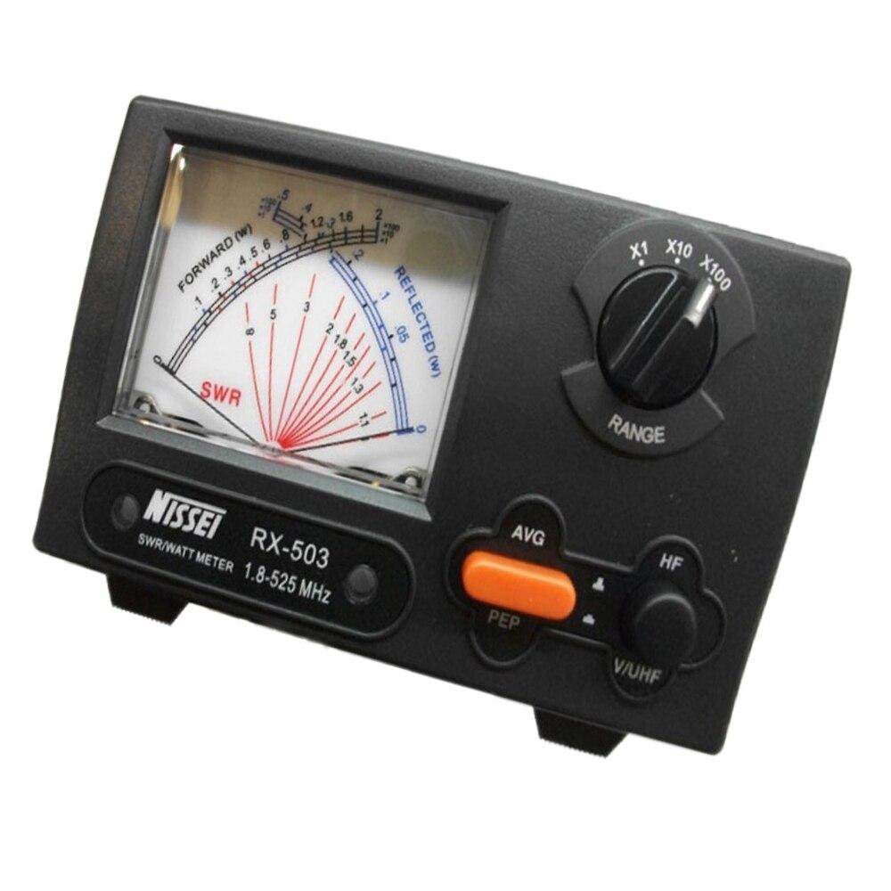 Original NISSEI RX-503 SWR/Watt Meter 1.8-525MHz 2/20/200W For Two-way Radio Watt Meter For Walkie Talkie Accessories