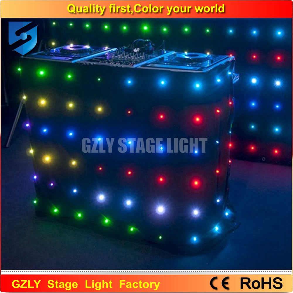 Color booth online - 3m 4m P18 Led Video Curtain Dmx Dj Backdrop Dj Equipment China Led Dj Booth Music Light Led Effect Dmx