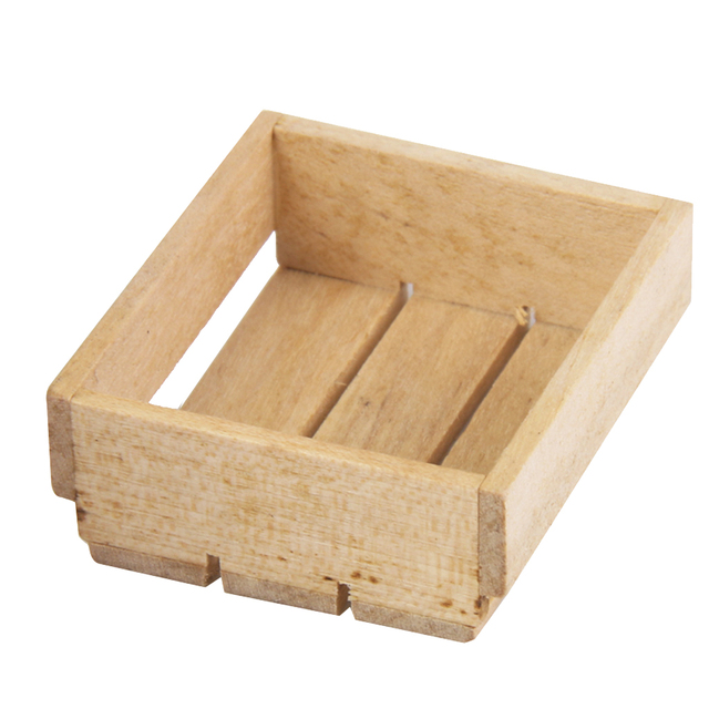1:12 Básculas Dollhouse miniatura Muebles madera cocina cesta ...