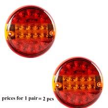 1 Pair  AOHEWEI 10 30 V LED trailer light  position led light stop  brake  turn indicator tail light side marker light tail lamp