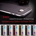 IPAKY для Galaxy S 6 Edge G925 5.1-inch Гибридный Сумка Обложка Гибрид PC + ТПУ Назад Shell Телефон Чехол для Samsung Galaxy S6 Edge G925