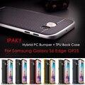 Ipaky para galaxy s 6 edge g925 5.1-polegadas saco híbrido cover híbrido pc + tpu volta caso shell telefone para samsung galaxy s6 edge G925