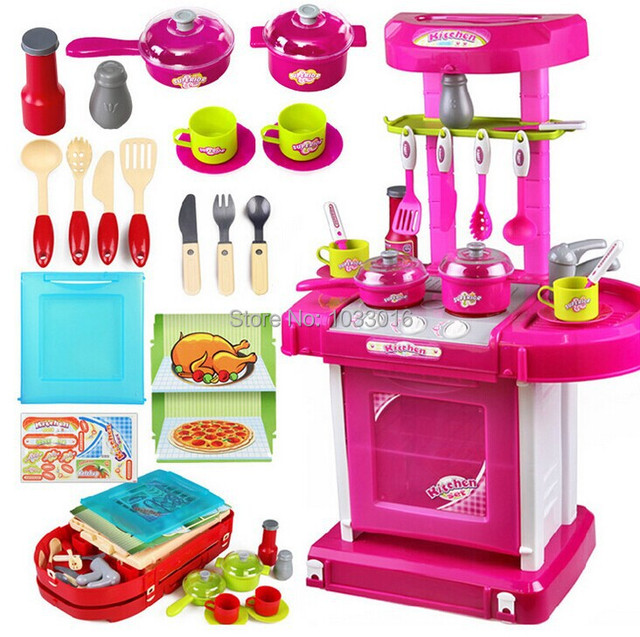 Kitchen Set Toy Boy Girl Baby Child Kids Educational Toys For
