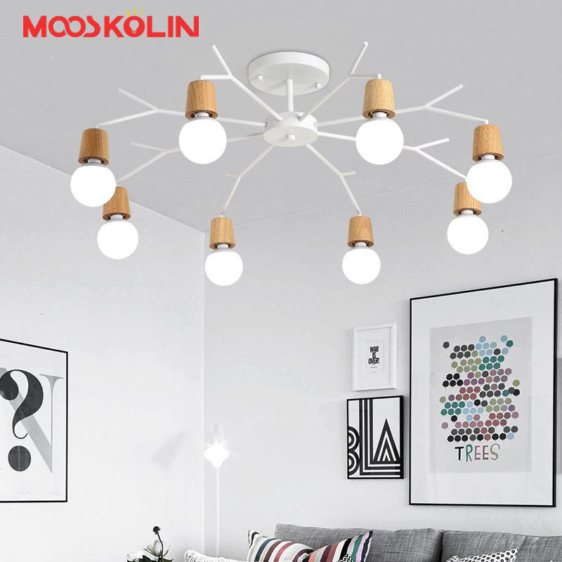 Wood Modern LED ceiling Light Fixtures For home Lighting Living Room Kitchen Lights Plafon Ceiling Lamp Luminaire Lampara Techo lukloy chandelier modern kitchen lamp living room foyer lights kitchen light wood branch lamp lighting fixture luminaire