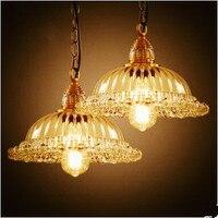 В скандинавском, деревенском стиле лофт Стиль приспособления для промышленного освещения ретро Винтаж лампа Эдисона подвесное светлое сте