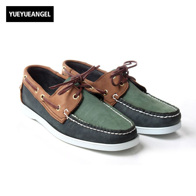 цена Vintage Mens Suede Leather Moccasin Gommino 2018 New Comfort Flats Driving Shoes Male Lace Up Office Casual Boat Shoes Plus Size