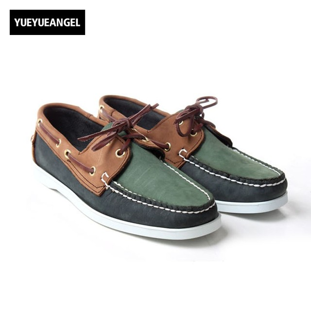 Vintage Mens Suede Leather Moccasin Gommino 2018 New Comfort Flats Driving  Shoes Male Lace Up Office