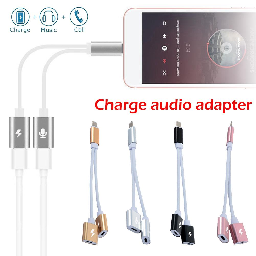 small resolution of 2 in 1 adapter for iphone7 8x for lighting phone to 3 5mm earphone headphone jack extension cable 10 3 converter aux audio port