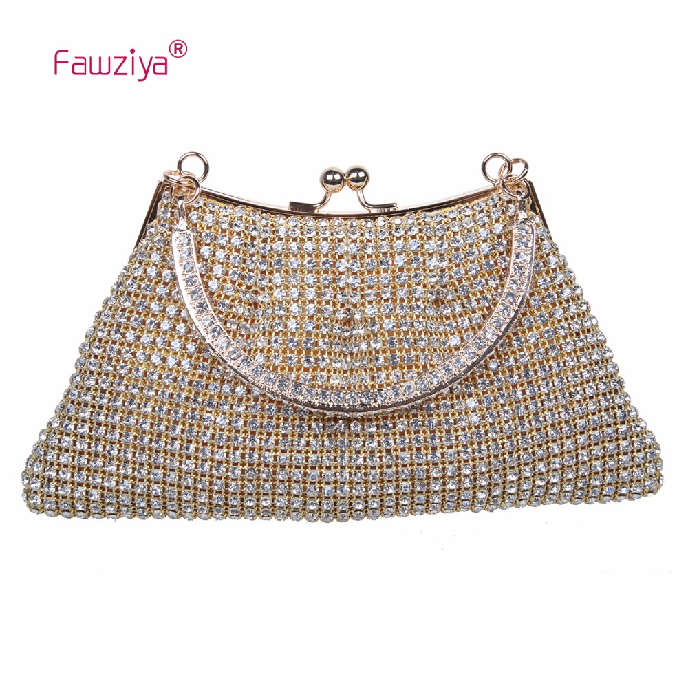 Fawziya Clutch Bag 1 Piece Kisslock Handbags For Girls Purse Evening Clutch With Handle kisslock chain bag