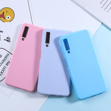 For Samsung Galaxy A7 2018 Case Candy Color TPU Phone Cases For Samsung A6 A7 2018 A50 A3 A5 A7 2017 S10 Lite S9 S8 S7 Edge Plus все цены