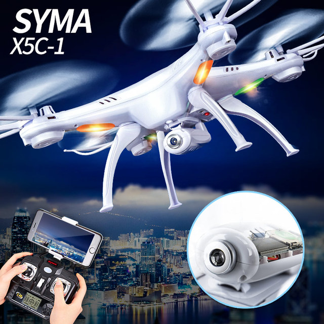 Syma X5C X5C-1 nueva versión exploradores modo Quadcopter 2 con 2 millones de píxeles cámara 2,4G 4CH con 6 eje gyro juguetes regalo