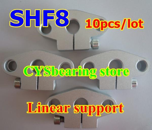 10 шт./лот SHF8 или SHF10 линейный рельс вал Поддержка/линейный стержень вала Поддержка XYZ; Таблица CNC фланцевый горизонтальный 8 мм или 10 мм вал