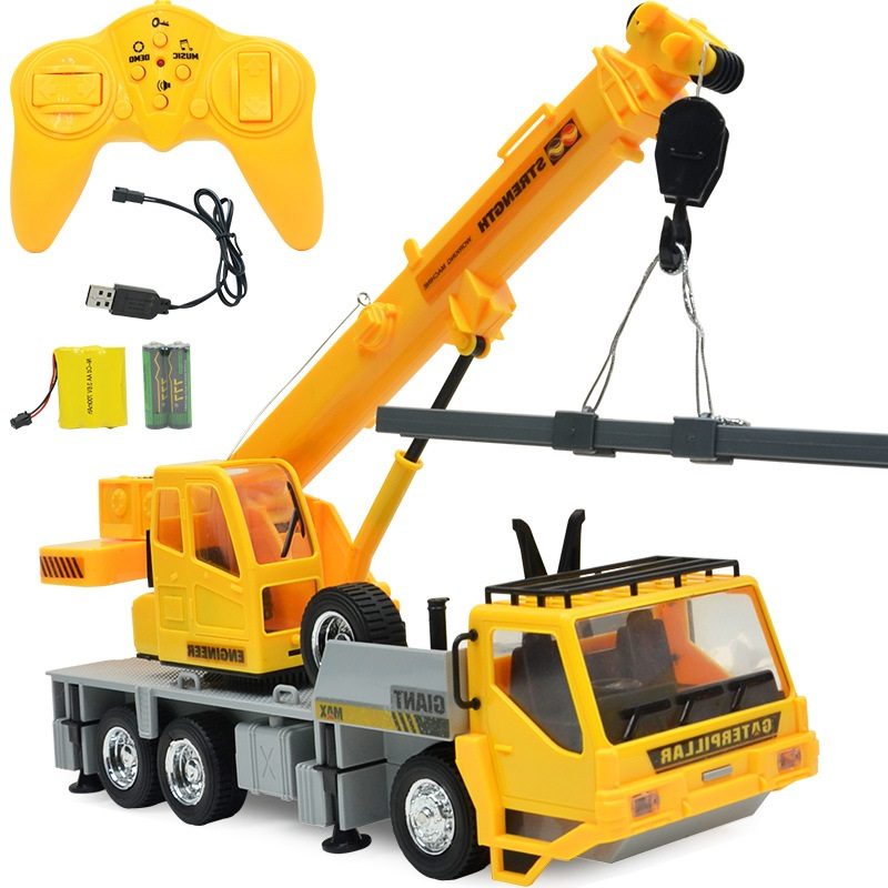 59cfdd868 US $44.91 10% OFF|FARFEJI 1:24 Control Remote Trucks Toys Tractors 8  Channel Carro Eletrico Rc Excavator Digger Toys For Boys Kids Car  Electric-in RC ...