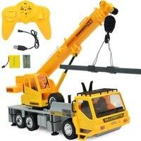 FARFEJI 1:24 Control Remote Trucks Toys Tractors 8 Channel Carro Eletrico Rc Excavator Digger Toys For Boys Kids Car Electric