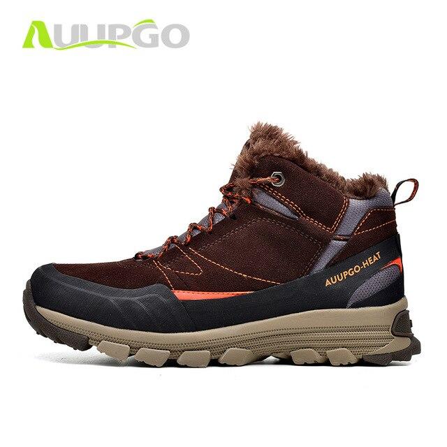 : Comprar Auupgo impermeable Zapatillas de senderismo para los hombres de invierno al aire libre deportes sneakers senderismo Botas