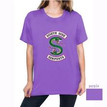 Womens T-Shirt Riverdale Southern Snake Summer Harajuku shirt