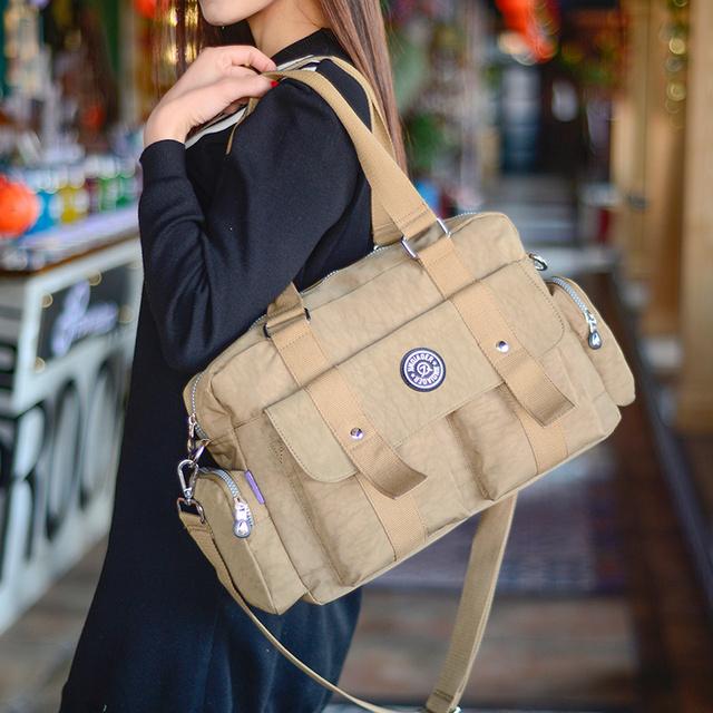 Women Messenger Bag Vintage Travel Fashion Ladies Waterproof Solid Nylon Crossbody Bags Bolsas Femininas Female Shoulder Bags
