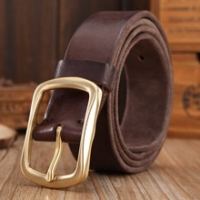 solid brass buckle 2018 full grain 100 genuine leather mens belts luxury hot designer high quality