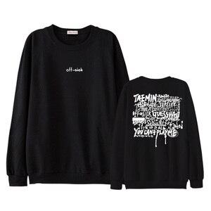 Модный пуловер с принтом и круглым вырезом Kpop shinee taemin off sick, Свитшот унисекс, всесезонные тонкие свободные толстовки