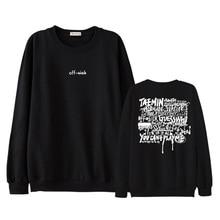 Kpop shinee taemin off sick concert same fashion printing o neck pullover sweatshirt unisex all season thin loose hoodies