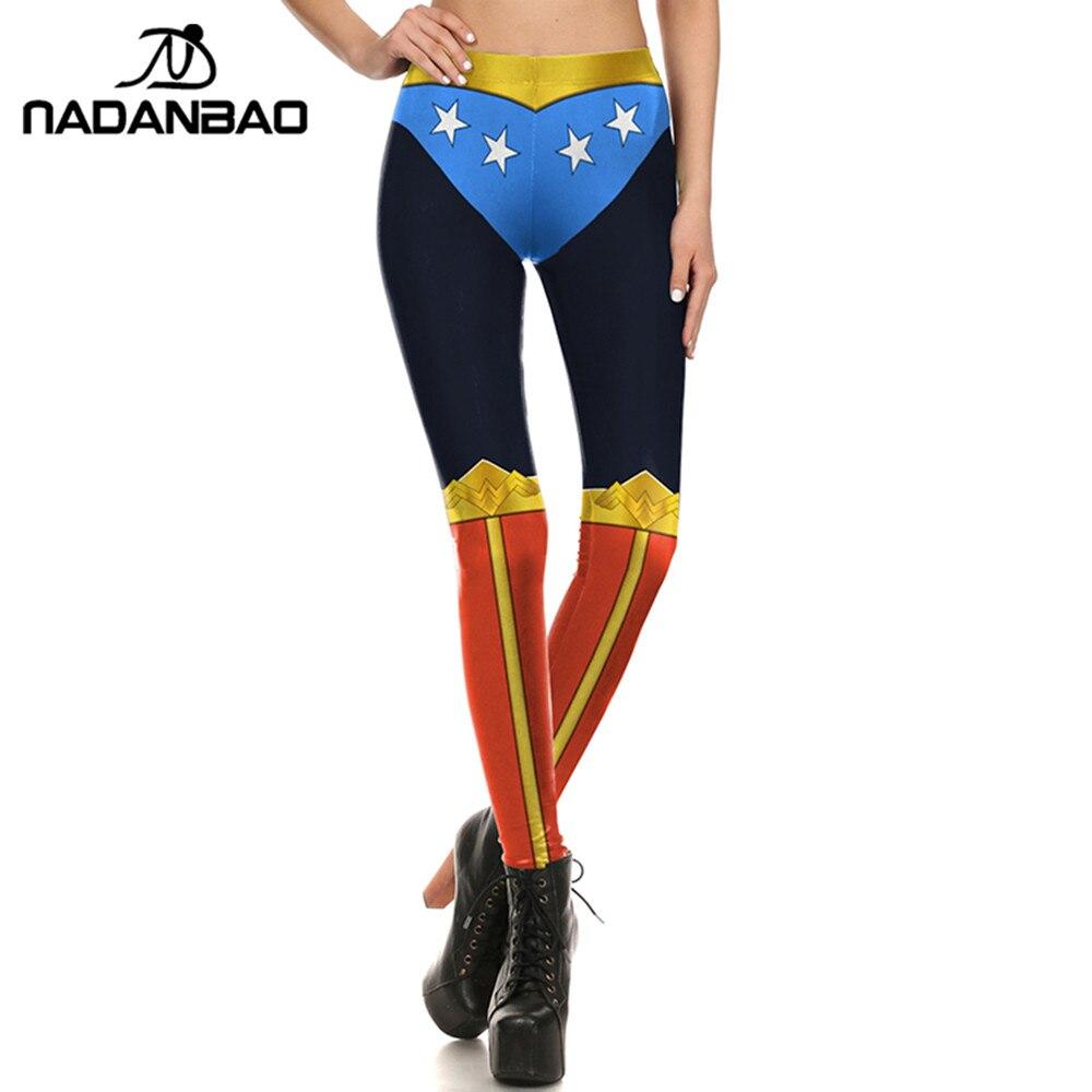 1f9efdf63faa1 NADANBAO New Summer Woman Leggings Wonder Woman Legging Cosplay Comic  Leggins For Woman Fitness Cool Leggings