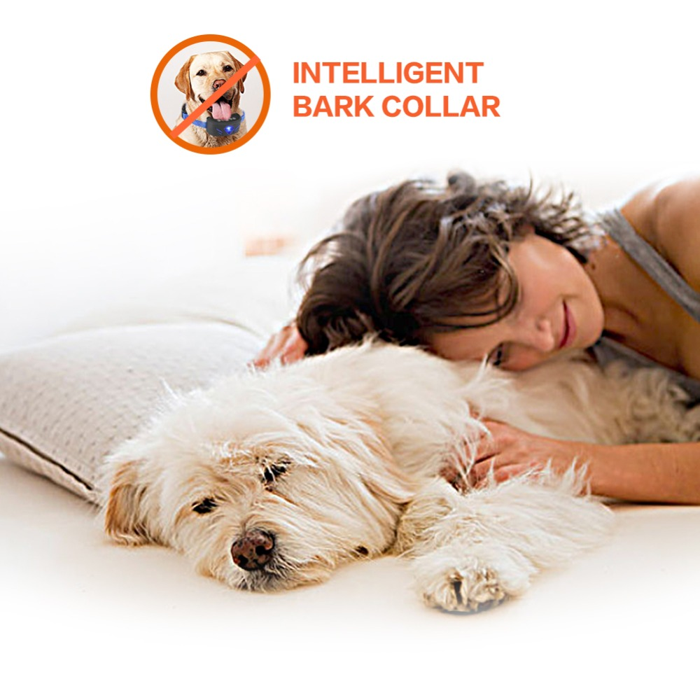 Anti Barking and Rechargeable Dog Shock Collar for Dog Training with Vibration and Shock Button 5