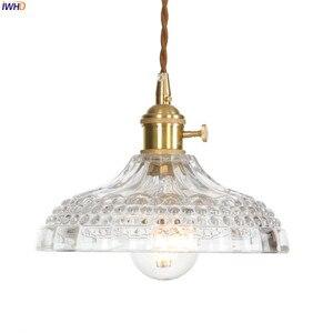 Image 3 - IWHD Copper Nordic Glass Pendant Light Fixtures Dinning Living Room Hanging Lamps LED Pendant Lighting Lampara Colgante Lampen