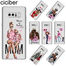 ciciber For Samsung Galaxy NOTE 9 8 Back Cover Soft Silicone TPU Super MaMa Girls Phone Cases 5 3 4 Fundas Coque