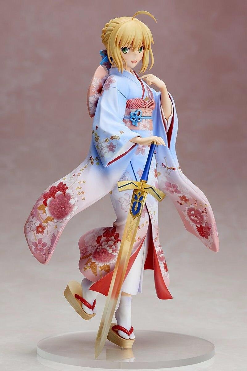 Судьба/ночь фигурки героев Wafuku сабля ПВХ игрушка фигура 250 мм Аниме Судьба Ночь кимоно сабля Коллекционная модель куклы
